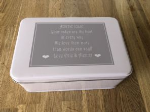 Shabby Personalised chic AUNTIE AUNTY AUNT Cake Biscuit Tin gift ANY NAME Baker - 253889156119